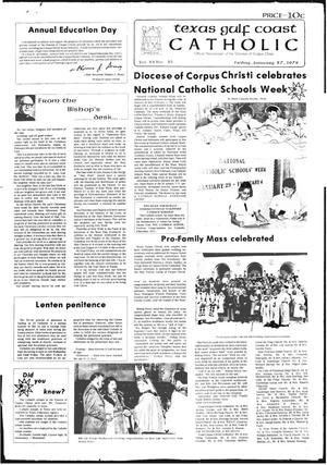 Primary view of object titled 'Texas Gulf Coast Catholic (Corpus Christi, Tex.), Vol. 12, No. 35, Ed. 1 Friday, January 27, 1978'.