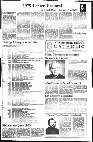 Primary view of object titled 'Texas Gulf Coast Catholic (Corpus Christi, Tex.), Vol. 14, No. 37, Ed. 1 Friday, February 16, 1979'.