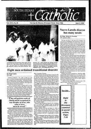 Primary view of object titled 'South Texas Catholic (Corpus Christi, Tex.), Vol. 25, No. 20, Ed. 1 Friday, June 1, 1990'.