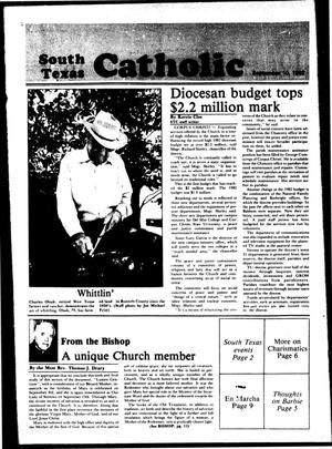 Primary view of object titled 'South Texas Catholic (Corpus Christi, Tex.), Vol. [18], No. [16], Ed. 1 Friday, September 10, 1982'.