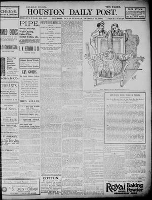 Primary view of The Houston Daily Post (Houston, Tex.), Vol. TWELFTH YEAR, No. 192, Ed. 1, Tuesday, October 13, 1896