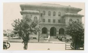 Primary view of object titled '[Photograph of University Hall at UT Medical School in Galveston]'.