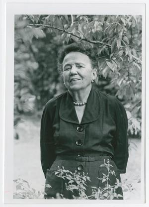 [Photograph of Edith M. Bonnet in a Thicket of Trees]