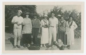 [Group Photograph with Edith M. Bonnet and Friends]
