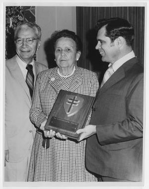 [Photograph of Andres Rivera, W. W. Burgin, Jr., and Edith M. Bonnet]
