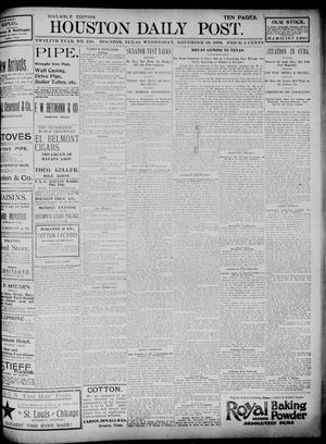 Primary view of object titled 'The Houston Daily Post (Houston, Tex.), Vol. TWELFTH YEAR, No. 228, Ed. 1, Wednesday, November 18, 1896'.