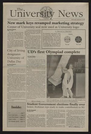 The University News (Irving, Tex.), Vol. 26, No. 3, Ed. 1 Wednesday, September 24, 1997
