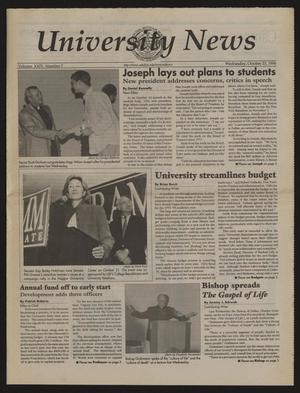 Primary view of object titled 'University News (Irving, Tex.), Vol. 24, No. 7, Ed. 1 Wednesday, October 23, 1996'.