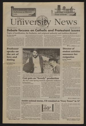 Primary view of object titled 'The University News (Irving, Tex.), Vol. 25, No. 10, Ed. 1 Wednesday, April 16, 1997'.