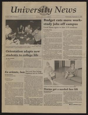 Primary view of object titled 'University News (Irving, Tex.), Vol. 24, No. 1, Ed. 1 Wednesday, September 11, 1996'.