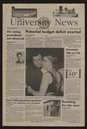 Primary view of object titled 'The University News (Irving, Tex.), Vol. 25, No. 12, Ed. 1 Wednesday, April 30, 1997'.