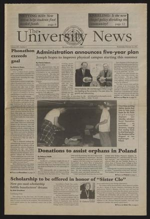 Primary view of object titled 'The University News (Irving, Tex.), Vol. 25, No. 5, Ed. 1 Wednesday, February 26, 1997'.