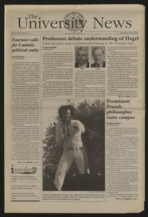 Primary view of The University News (Irving, Tex.), Vol. 27, No. 12, Ed. 1 Wednesday, April 29, 1998