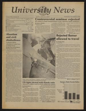 Primary view of object titled 'University News (Irving, Tex.), Vol. 24, No. 10, Ed. 1 Wednesday, November 13, 1996'.