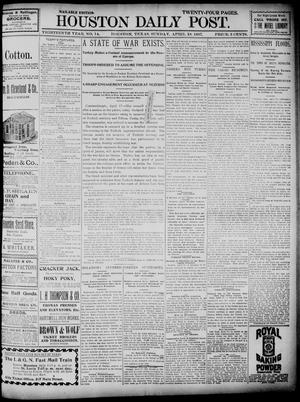 Primary view of object titled 'The Houston Daily Post (Houston, Tex.), Vol. Thirteenth Year, No. 14, Ed. 1, Sunday, April 18, 1897'.