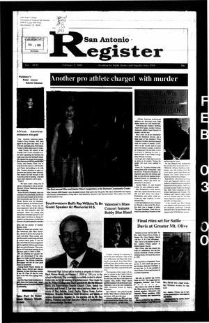San Antonio Register (San Antonio, Tex.), Vol. 68, No. 33, Ed. 1 Thursday, February 3, 2000