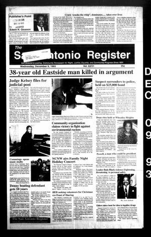 The San Antonio Register (San Antonio, Tex.), Vol. 62, No. 31, Ed. 1 Thursday, December 9, 1993