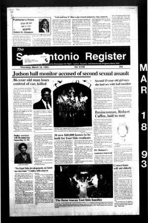 The San Antonio Register (San Antonio, Tex.), Vol. 61, No. 45, Ed. 1 Thursday, March 18, 1993