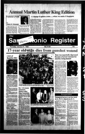 The San Antonio Register (San Antonio, Tex.), Vol. 61, No. 38, Ed. 1 Thursday, January 21, 1993