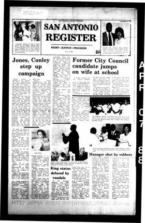 San Antonio Register (San Antonio, Tex.), Vol. 56, No. 52, Ed. 1 Thursday, April 7, 1988