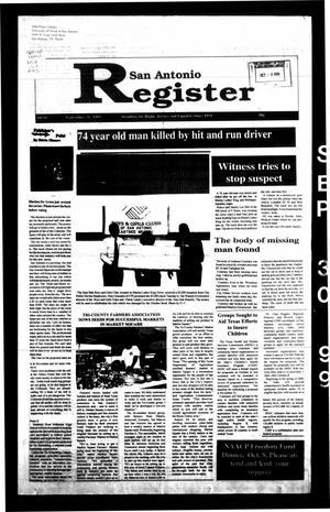 San Antonio Register (San Antonio, Tex.), Vol. 68, No. 14, Ed. 1 Thursday, September 30, 1999