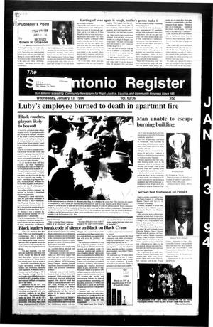 The San Antonio Register (San Antonio, Tex.), Vol. 62, No. 36, Ed. 1 Thursday, January 13, 1994