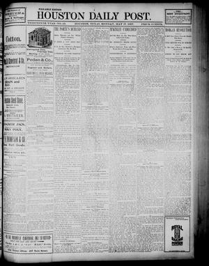 Primary view of object titled 'The Houston Daily Post (Houston, Tex.), Vol. Thirteenth Year, No. 43, Ed. 1, Monday, May 17, 1897'.