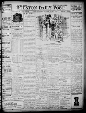 Primary view of object titled 'The Houston Daily Post (Houston, Tex.), Vol. Thirteenth Year, No. 63, Ed. 1, Sunday, June 6, 1897'.