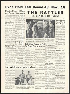 Primary view of object titled 'The Rattler (San Antonio, Tex.), Vol. 32, No. 4, Ed. 1 Friday, November 10, 1950'.