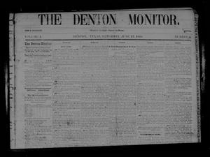 Primary view of object titled 'The Denton Monitor. (Denton, Tex.), Vol. 1, No. 3, Ed. 1 Saturday, June 13, 1868'.