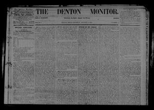 Primary view of object titled 'The Denton Monitor. (Denton, Tex.), Vol. 1, No. 12, Ed. 1 Saturday, August 15, 1868'.