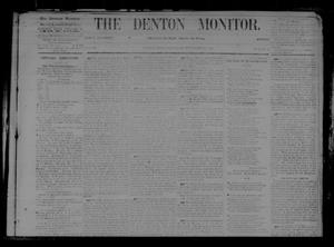 Primary view of object titled 'The Denton Monitor. (Denton, Tex.), Vol. 1, No. 16, Ed. 1 Saturday, September 12, 1868'.