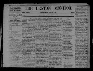 Primary view of object titled 'The Denton Monitor. (Denton, Tex.), Vol. 1, No. 13, Ed. 1 Saturday, August 22, 1868'.