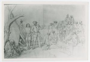 [Drawing of Colonial Settlers]