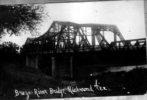 "Primary view of object titled '[Northeast corner of the ""Brazos River Bridge""]'."