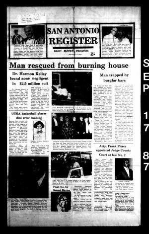 San Antonio Register (San Antonio, Tex.), Vol. 56, No. 25, Ed. 1 Thursday, September 17, 1987