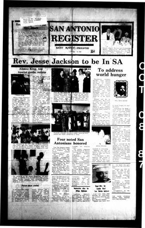 San Antonio Register (San Antonio, Tex.), Vol. 56, No. 28, Ed. 1 Thursday, October 8, 1987