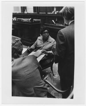 Primary view of object titled '[Barbara Jordan With Fellow House Judiciary Committee Members #2]'.