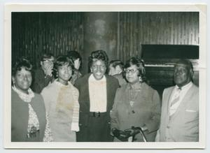 Primary view of object titled '[Arlyne Jordan, Barbara Jordan, Bennie Jordan, Rosemary Jordan, and an Unidentified Man]'.