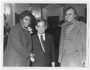 Primary view of object titled '[Portrait of Barbara Jordan, Carl Albert, and Bob Eckhardt]'.