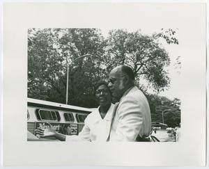 Primary view of object titled '[Barbara Jordan and an Unidentified Man]'.