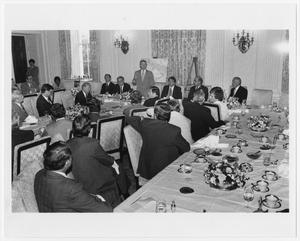 Primary view of object titled '[A Dinner Discussing the Turkey Embargo]'.