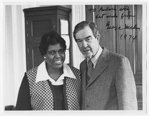 Primary view of object titled '[Portrait of Barbara Jordan and George Mahon]'.