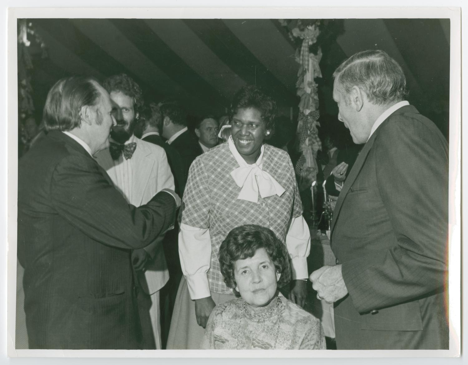 [Portrait of Barbara Jordan, Joel Albritton, and his Wife Barbie]                                                                                                      [Sequence #]: 1 of 2