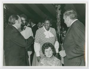 Primary view of object titled '[Portrait of Barbara Jordan, Joel Albritton, and his Wife Barbie]'.
