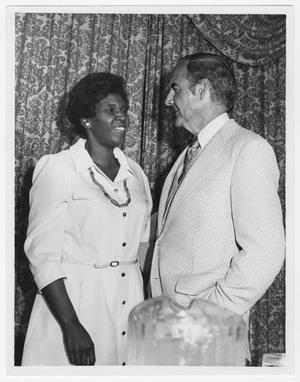 Primary view of object titled '[Portrait of Barbara Jordan and George McGovern]'.