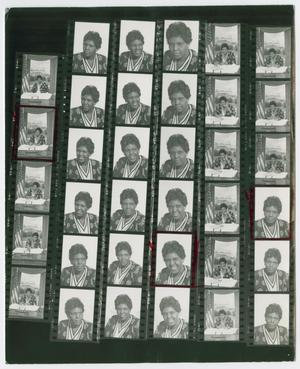 Primary view of object titled '[Contact Sheet of Portraits of Barbara Jordan]'.