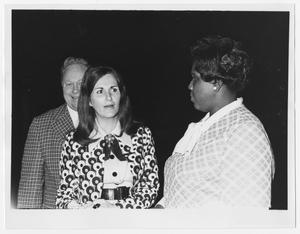 Primary view of object titled '[Barbara Jordan With Two Unidentified Persons]'.