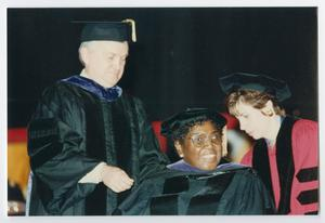 Primary view of object titled '[Barbara Jordan at University of Missouri Commencement Ceremony]'.
