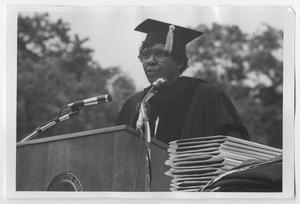 Primary view of object titled '[Barbara Jordan Being Awarded an Honorary Degree at Brandeis University]'.